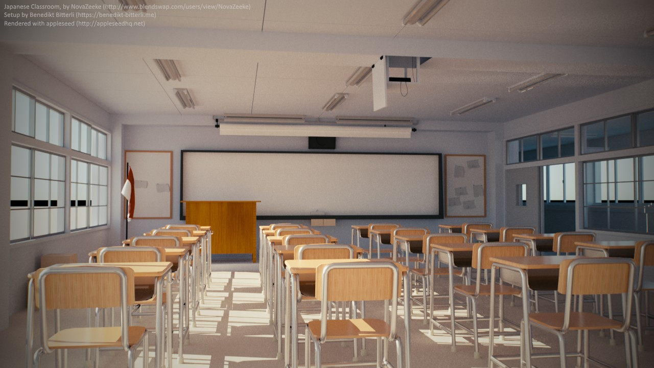 Japanese Classroom Design : Appleseed about